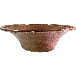 Large French Antique Pan in Solid Copper 19th cent. Perfect as Bathroom Basin