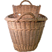 Vintage Handmade French Grape Pickers Basket for a Child