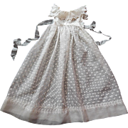 French Vintage Silk Organza Christening Gown with Remarkable Hand Embroidery...and Matching Petticoat