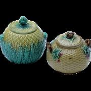 Two Majolica Sugar Bowls