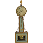 Federal Mahogany Banjo Clock, early 19th C.