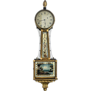 Federal Banjo Clock, Wm. Grant, Boston, ca 1815