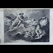 Engraving by M. Thevenard (French, 1710–1770), Venus Suppliante