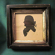 Antique Framed Hollow Cut Silhouette Or Shadow Portrait Of A Gentlemen
