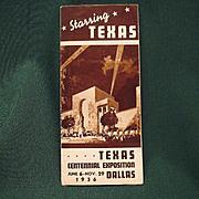 Vintage Texas Centennial Exposition 1936 Advertising Folder