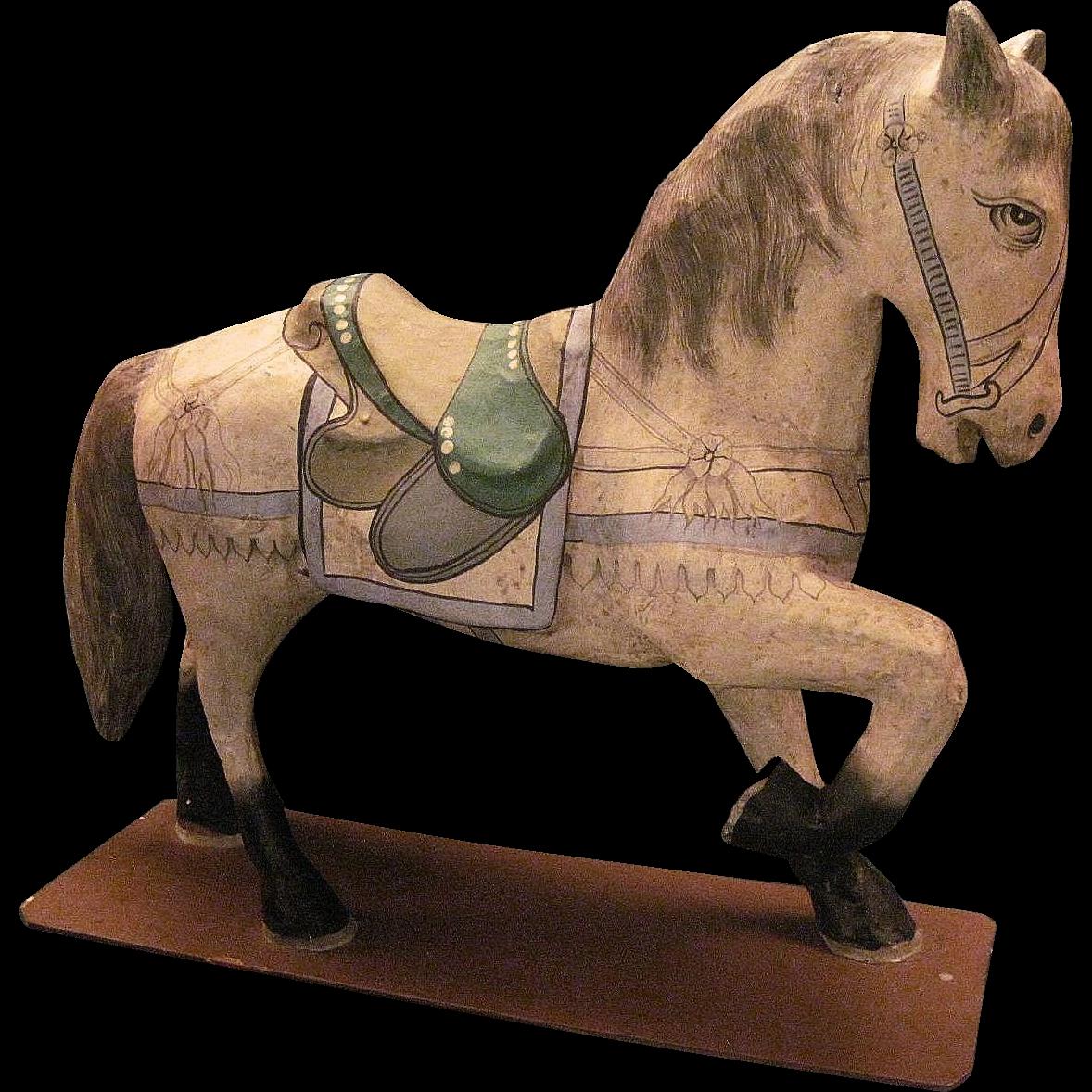 vintage papier mache horse from storeyandsonantiques on ruby lane. Black Bedroom Furniture Sets. Home Design Ideas