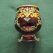 Enameled Ruby Glass Cordials, 5.