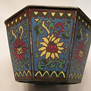 Chinese Bronze and Champleve Jardiniere