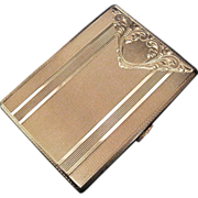 Hungarian Engraved 800 Silver Card or Cigarette Case