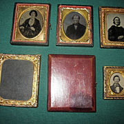 Antique Photographic Ambrotypes, Tintype, Frames, and Case