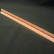 Vintage Draftsman or Architect  Six Sided Conversion Scale Ruler