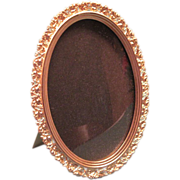 Victorian Gilt Brass Oval Picture Frame