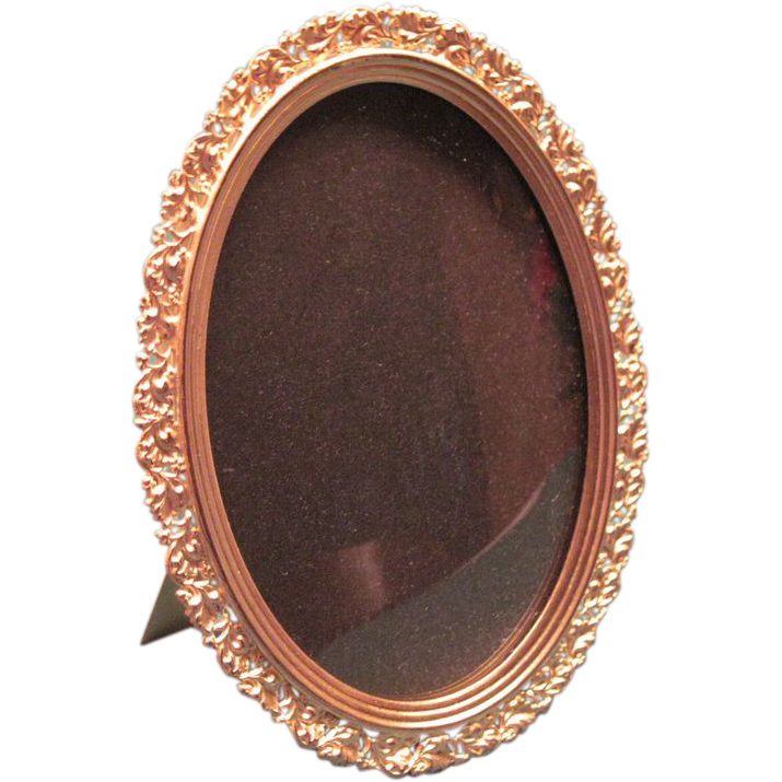 Victorian Gilt Brass Oval Picture Frame Storey And Son