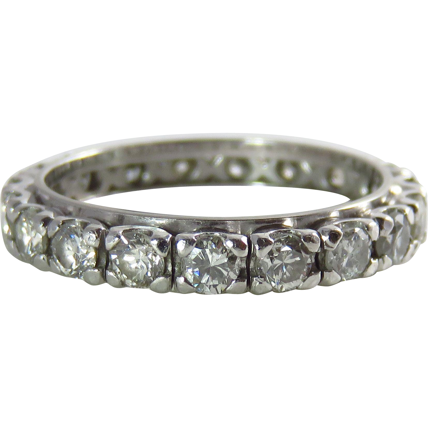 Vintage Diamond Eternity Band 12