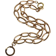 Edwardian 9 Karat Rose Gold Watch Chain
