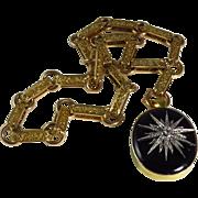 Victorian 18 Karat Yellow Gold Black Onyx And Old Mine-Cut Diamond Locket With Bookmark Chain