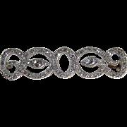 Victorian Old Mine-Cut Diamond Double Snake Brooch