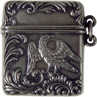 Victorian Sterling Silver Postage Stamp Case
