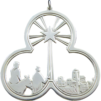 """1974 Lunt Sterling Silver """"Journey By Starlight"""" Christmas Medallion"""
