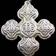 1971 Reed & Barton Sterling Silver Christmas Cross