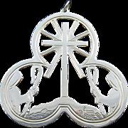 "1972 Sterling Silver Lunt ""Shepherds' Vigil"" Christmas Medallion"