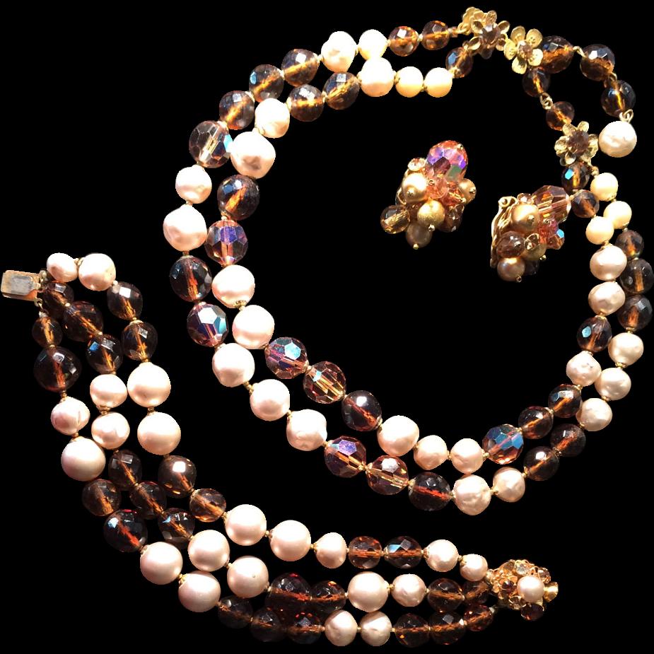 De Mario of Haskell Necklace/Bracelet/Earring Set from ...