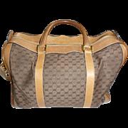 Vintage Gucci Brown/Tan Handbag with removable shoulder strap