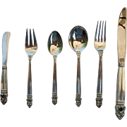 International Sterling Royal Danish - 6 Piece Silverware Set - Service for 12 (72 total pieces)