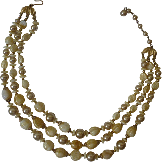 Vintage Trifari Beaded Necklace