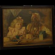 Rare Antique C. 1900 Lithograph Advertising Knox Gelatin Black Americana
