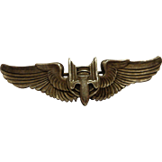 WWII Sterling Aerial Gunner Wings Qualification Insignia US Military