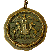Rare Ambassador Hotel Bronze Medallion Fob Historical Los Angeles California