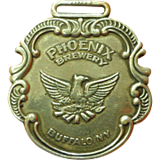 Old Phoenix Brewery Watch Fob from Buffalo NY Beer Collectible