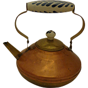 Vintage Bredemeijer Copper & Brass Teapot from Holland Delft