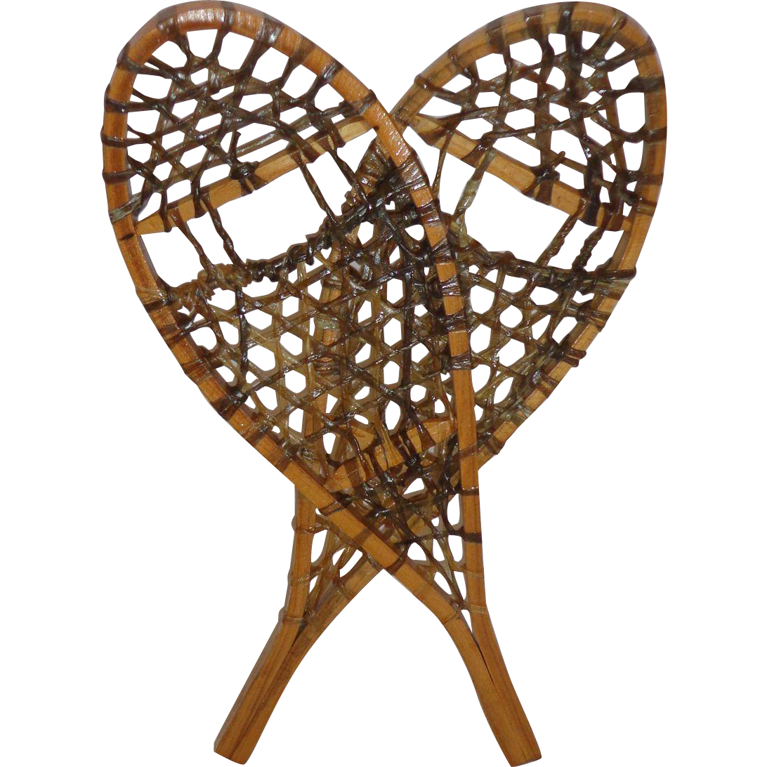 Vintage Miniature Snowshoes Salesman Sample Made In Canada