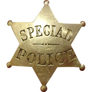 Antique Special Police Ball Tipped Star Badge