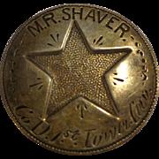 Rare Civil War Cavalry ID Badge / Tag 1st Iowa Cavalry Prisoner of War