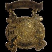 Rare Indian Wars Named Sterling Ladder Badge 1st Battalion 1883 Bayonet Squad Military