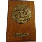 Rare .900 Silver Canada Canadian Martyrs Ontario Jesuit Saints Catholic Religious Plaque 1931