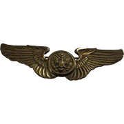 WWII Era Air Crew Sterling Wings US Army Air Corps Military Pinback