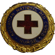 WWII Numbered Red Cross Enamel Pin Nurse