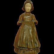 Antique Vienna Bronze Dutch Cold Painted Figural Bell