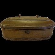 Antique Bronze Persian Islamic Scribe Calligraphy Box Raj Period