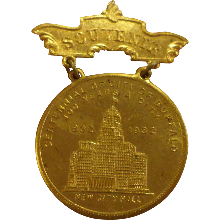 Buffalo New York Centennial Badge 1892 1932 George Washington From Threedaugh