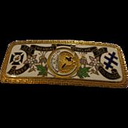 Antique Knights Templar 32nd Triennial Conclave Masonic Pin Enamel Badge Denver Colorado 1913
