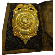 Vintage WWII Era Deputy Sheriff Erie County Special Police Badge in Original Wallet