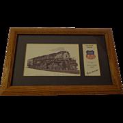 Vintage Michael Scott Kent Railroad Train Lithograph Signed Union Pacific RR