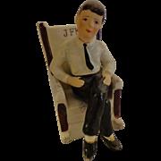Vintage JFK Salt & Pepper Shakers Figural President John F Kennedy Ceramic Japan