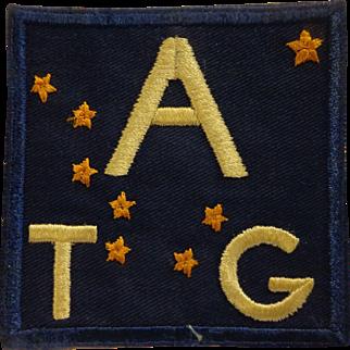 Authentic Alaska Territorial Guard Patch WWII Era Eskimo Inuit