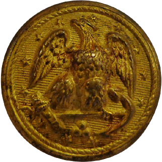 Spanish American War Navy Button Made by Waterbury of Connecticut USN
